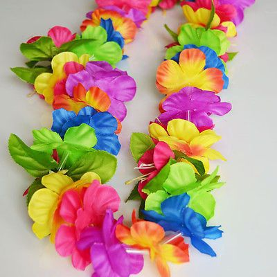 Add a POP of color to your party! With beautiful bold rainbow colored petals, this Hawaiian lei will be a wonderful compliment to your luau outfit at your next luau, beach, tropical themed party. Flow