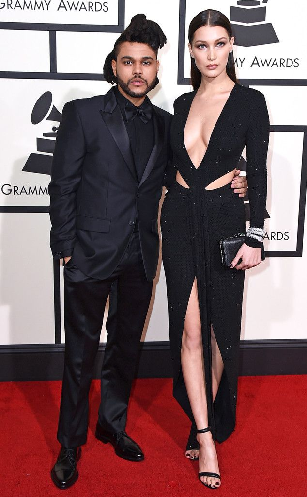 The Weeknd & Bella Hadid from Couples at the 2016 Grammys   E! Online