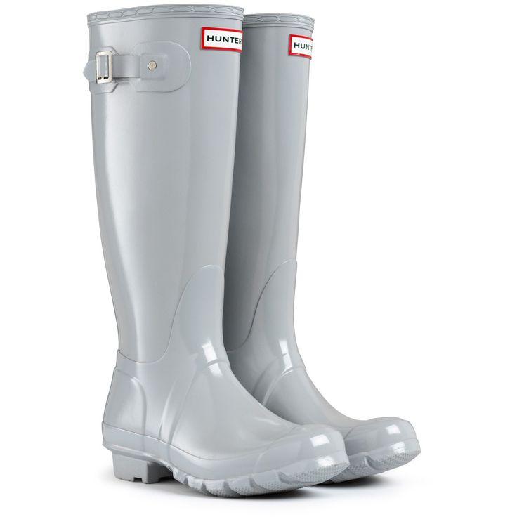 Hunter+Wellington+Boots+Original+Tall+Gloss+Smoke