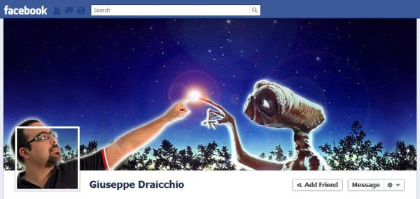 Nice use of the Facebook Timeline cover picture