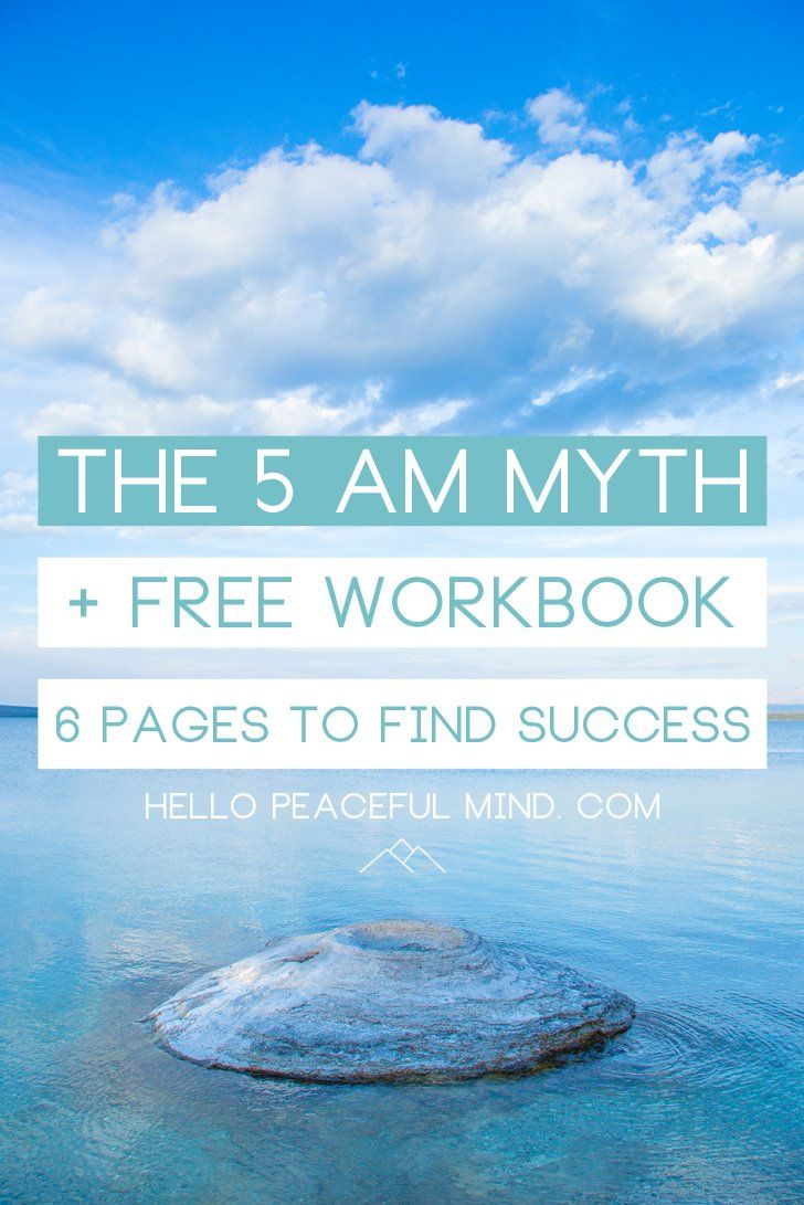 Do you need to wake up early to be successful? Maybe not. Find out how to define your success and reach a successful life with our FREE workbook.