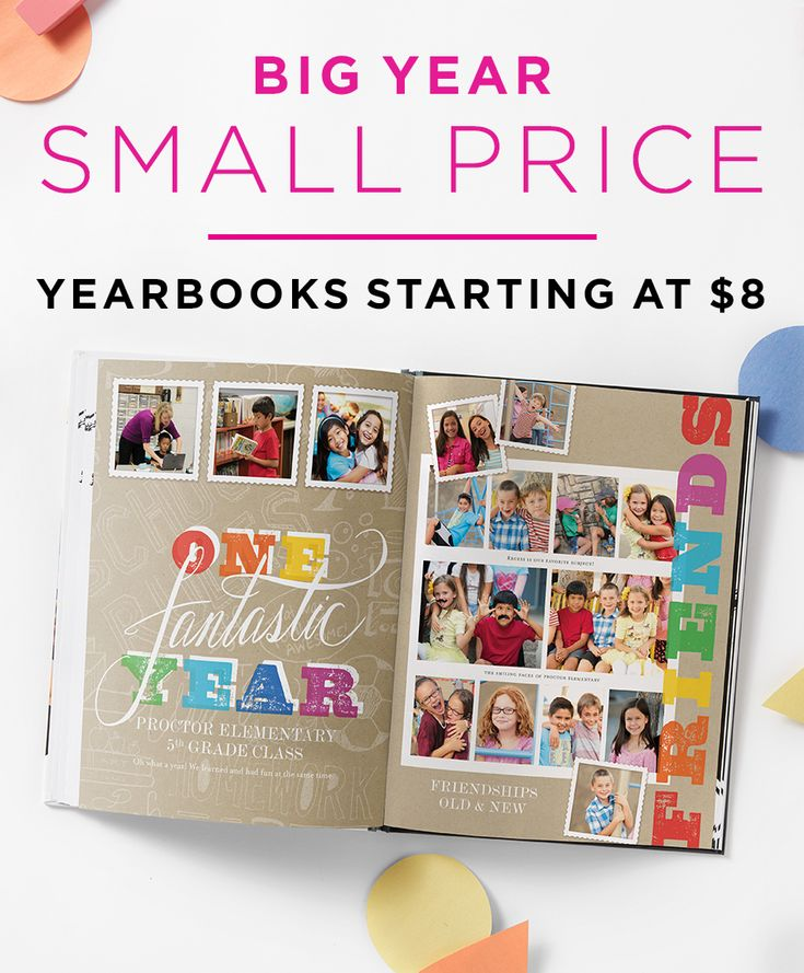 Make it a school year to remember with yearbooks starting at just $8. | Shutterfly