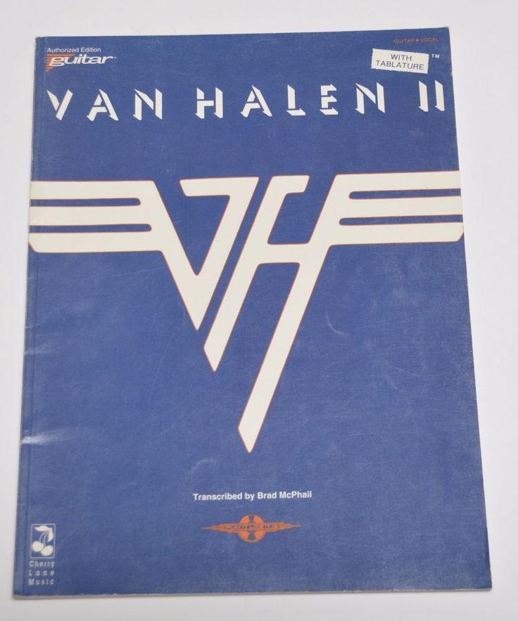 SOLD! VAN HALEN II 2 SONGBOOK Guitar Tablature TAB Vocal Sheet Music Vintage 1992 USA