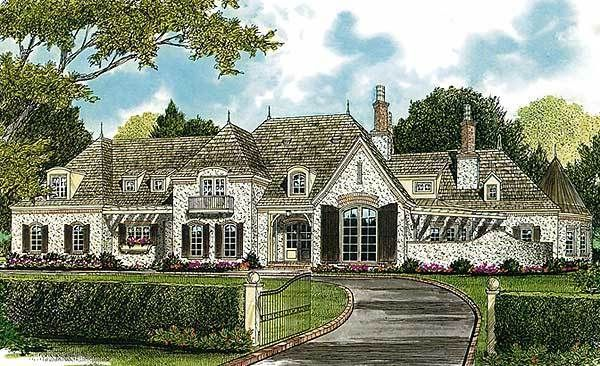 French Cottage Home Plans Traditional House Plans Garage Plans European House Plans House Plans Luxury House Plans Mountain House Plans French Country Bedrooms
