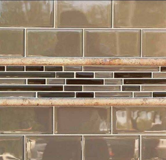 Backsplash Tile Designs: Combining 2 Or More Tiles For A Unified Effect:  Backsplash Tile Designs: Earthen Subway