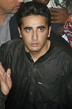 Bilawal Bhutto Zardari of the Pakistan People's Party (Benazir Bhutto's son)