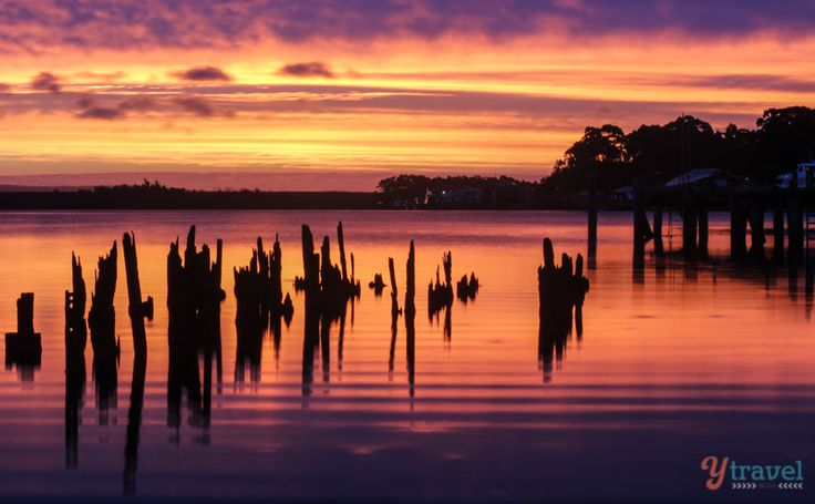 Sunset over Strahan, Tasmania, Australia