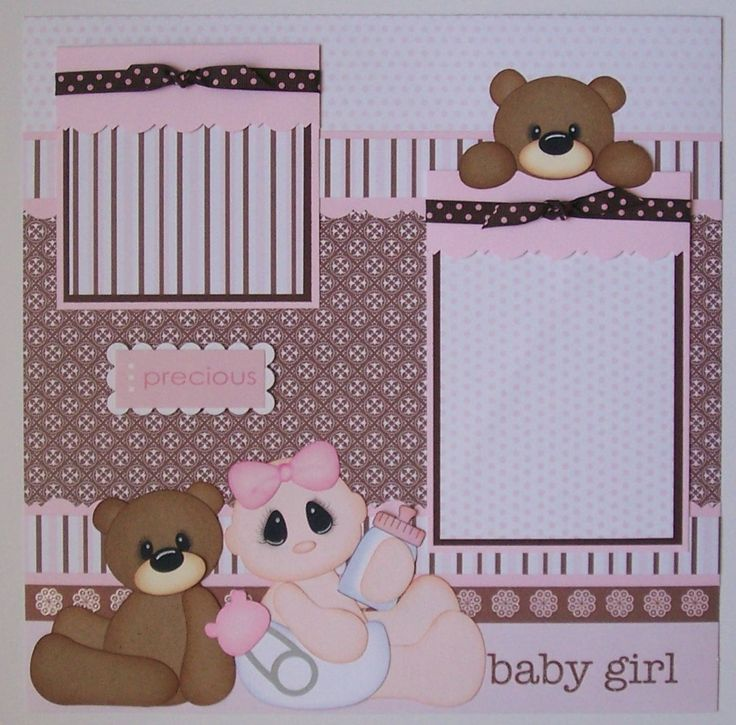Baby Girl Scrapbook Pages | BLJ Graves Studio: Baby Girl Scrapbook Page