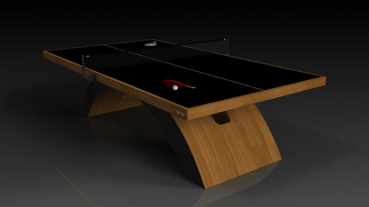 Zenith Table Tennis. Teak. The Zenith table can be customized in your choice of bespoke sizes, colors, and finishes. Upon request, we also offer the option to add slender drawers on each side in order to provide concealed storage for table tennis paddles and ping pong balls.