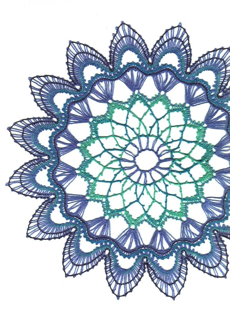 Bobbin Lace doily 3 - 4 colours