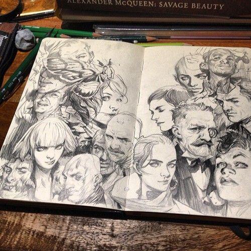 I love seeing other people's sketch books. Wesley Burt Drawings