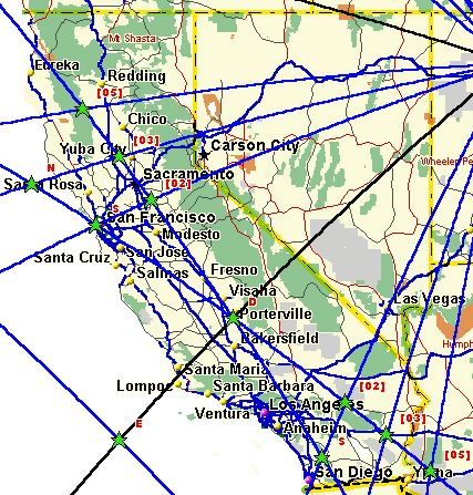 Ley Lines Arizona Map.Magnetic Ley Lines In America California Ley Lines On Vortices And