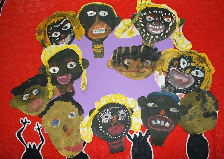 Африканцы. Рисуют дети 4-6 лет. Гуашь, картон.