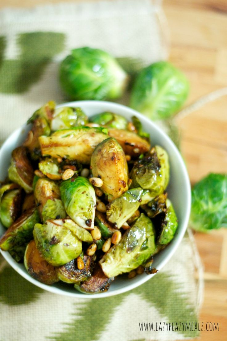 Honey Balsamic Pan Seared Brussels Sprouts   Recipe ...