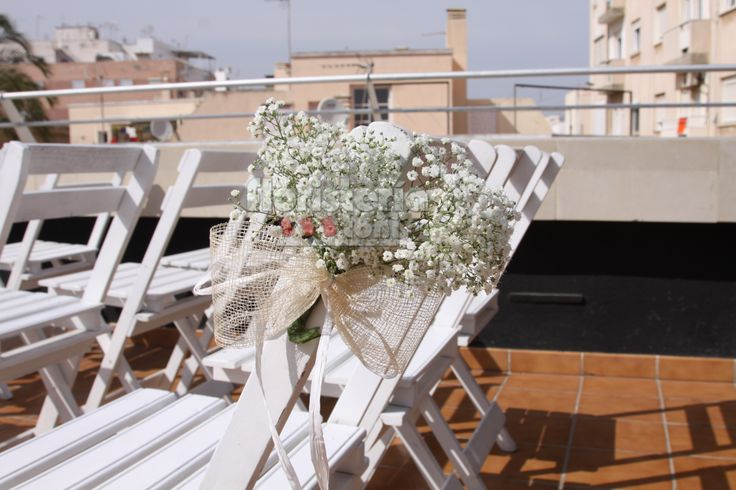 Decoraci n sillas boda gypsopila bodas civiles pinterest - Decoracion bodas civiles ...