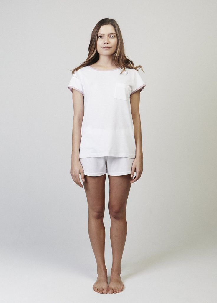 Jane Short Sleeve Relaxed Pajama T-shirt. Not a plain Jane. This is a short sleeve, relaxed pyjama top with a crew neckline.