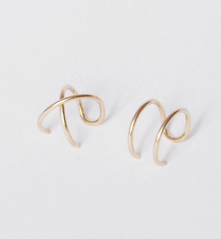 Set of 2 Ear Cuffs, Ear Cuff, Double Ear Cuff and Criss Cross Ear Cuff,No Piercing,Cartilage Ear Cuff,Simple Ear Cuff,Fake Cartilage Earring by Benittamoko on Etsy https://www.etsy.com/au/listing/265153033/set-of-2-ear-cuffs-ear-cuff-double-ear
