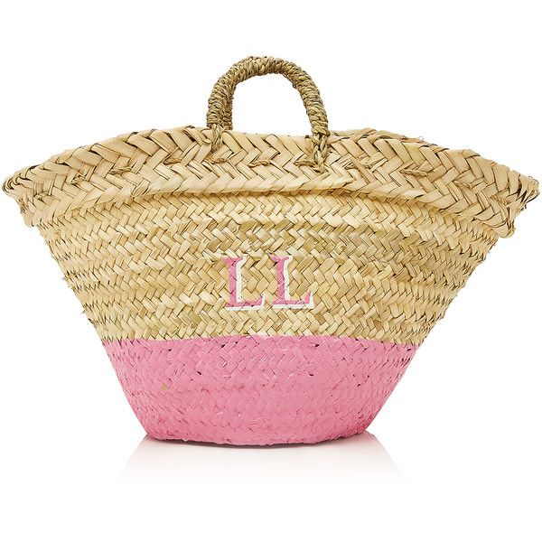Rae Feather M'Onogram Dip Dye Basket (2.731.625 IDR) ❤ liked on Polyvore featuring home, kitchen & dining and pink