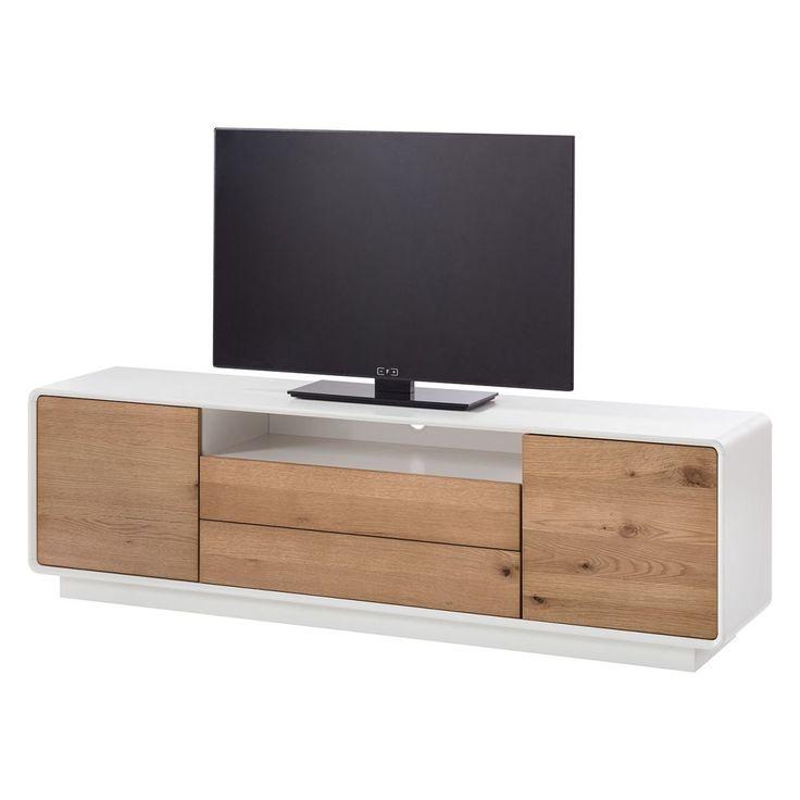 TV-Lowboard Boge II - Asteiche / Matt Weiß, Morteens Jetzt bestellen unter: https://moebel.ladendirekt.de/wohnzimmer/tv-hifi-moebel/tv-lowboards/?uid=cc943cd5-3cca-5158-afc1-64a0c8010e25&utm_source=pinterest&utm_medium=pin&utm_campaign=boards #möbel #kommoden #morteens #tvlowboards #wohnzimmer #sideboards #tvhifimoebel