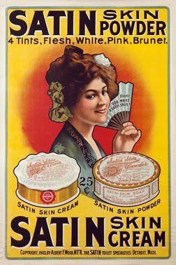 Artist Unknown poster: Satin Skin Powder/Skin Cream