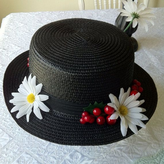 Mary Poppins Nanny Hat by NerdPoppins on Etsy, $20.00 #cosplay #dapperday #disney