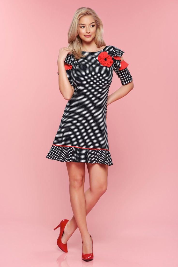 Comanda online, Rochie buline LaDonna rosie cu maneci tip fluture. Articole masurate, calitate garantata!