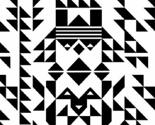 White And Black Wallpaper Modern Interior Decorating Ideas Black Geometric Wallpaper And Ethnic
