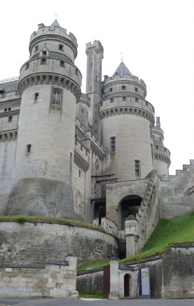 Chateau de Pierrefonds. Considered a national monument and one of the most beautiful castles in France