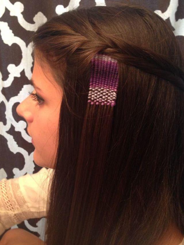 これは髪に直接糸で刺繍をするという斬新なヘアスタイル。髪も傷む事はなく、ショートヘアの方でもできちゃいます。