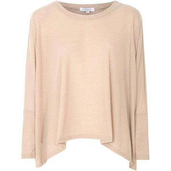 Stone Batwing Slouch Top ($26) ❤ liked on Polyvore featuring tops, cream, loose fitting tops, slouchy tops, batwing top, stone top and pink top