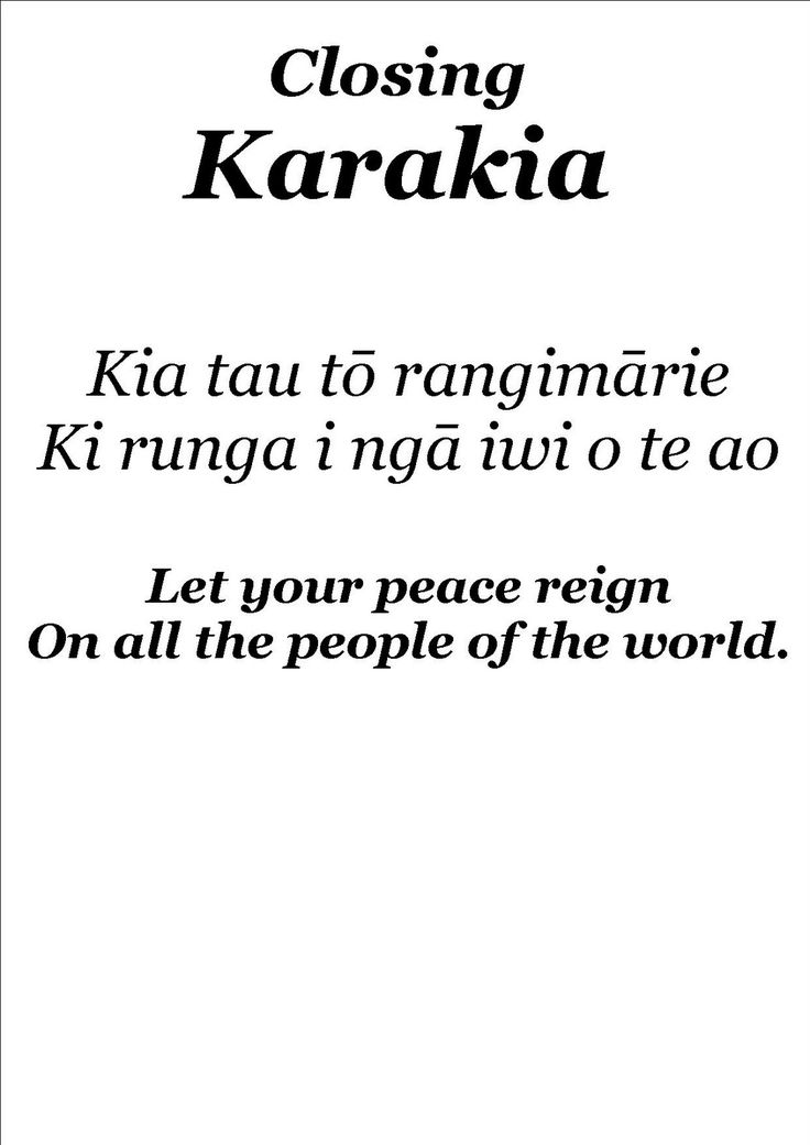 The Treaty of Waitangi is an inherent part of our practice where Tikanga and te reo are woven into the fabric of our day...here are our kara...