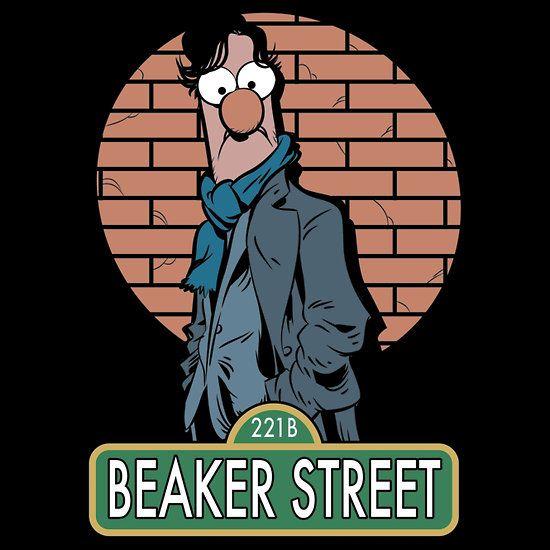 lol: Sesame Street, Muppets, Stuff, 221B Beaker, Beaker Street, Sherlock Holmes, Mashup, Fandom