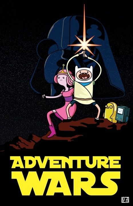 Adventure time star wars poster
