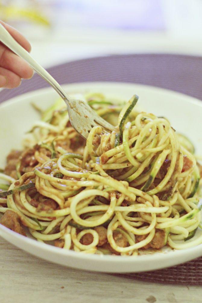 zucchini pasta, no carb pasta