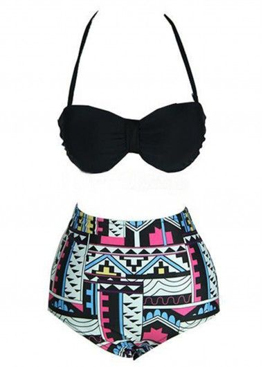 Aztec High Waisted Bikini Swimsuit on sale only US$26.10 now, enjoy free shipping!