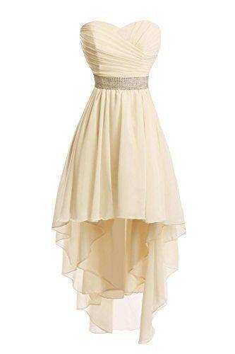 b70ba96c6d Sleeveless Pleated High Low Chiffon Hoco Party Dress With Corset ...