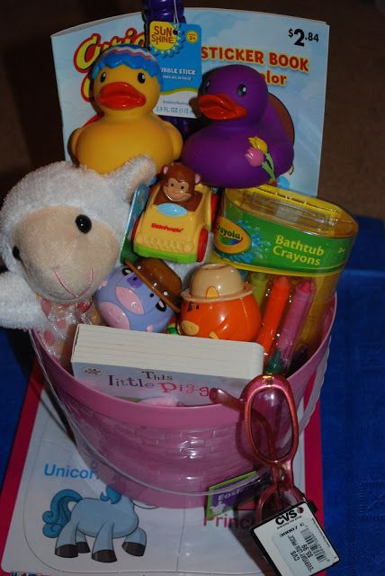 Easter Basket Ideas for Babies/Toddlers...like the Annie's Organic bunny shaped crackers