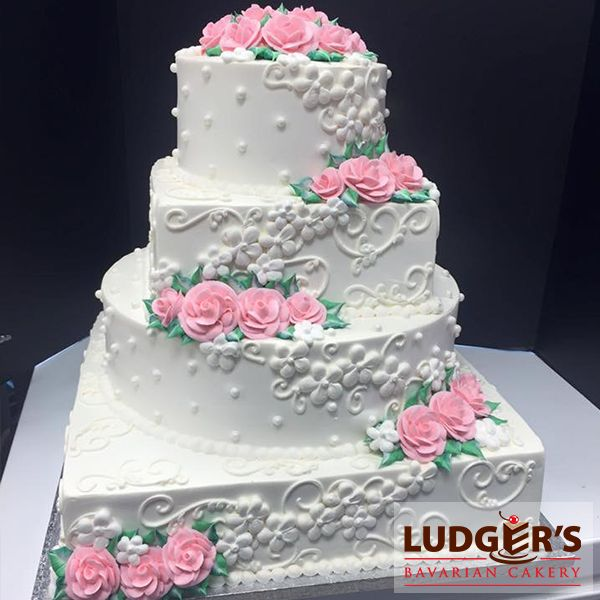 Images Of Square Shape Cake : 1000+ images about Ludger s Wedding Cakes on Pinterest ...