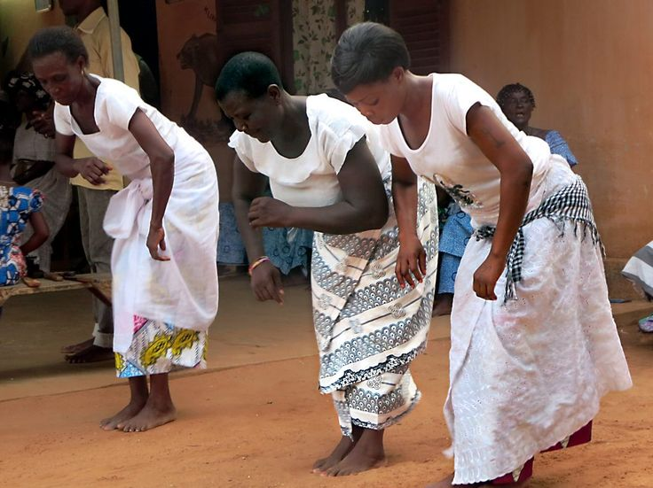 Female dancers at a voodoo ceremony in Lome, Togo