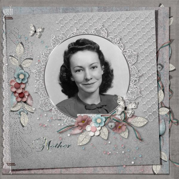 Memories of Mom by Tbear. Kit used: Lattice and Lace combo http://scrapbird.com/designers-c-73/k-m-c-73_516/meryl-bartho-c-73_516_522/lattice-and-lace-combo-p-16806.html