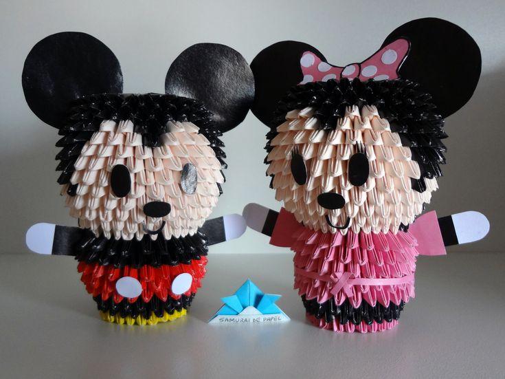 Orgami 3D - Mickey and Minnie