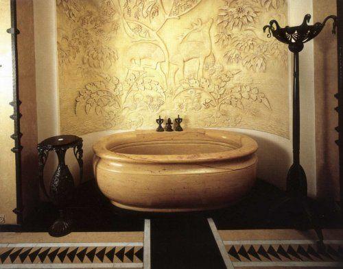 Salle de bain : baignoire, lampadaire et table de toilette - Les Arts Décoratifs - Site officiel