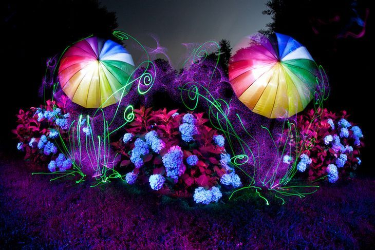 Fantastic Kaleidosopic Light Paintings by ​Tackyshack