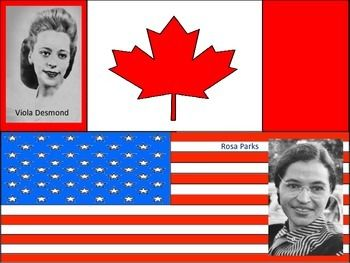 Viola Desmond is our Canadian version of Rosa Parks, who 9 years earlier didn't give up her seat in the movie theater and was arrested and fined.  Your students can read about their stories and compare and contrast how they are similiar and different, making text to text and text to real world connections.