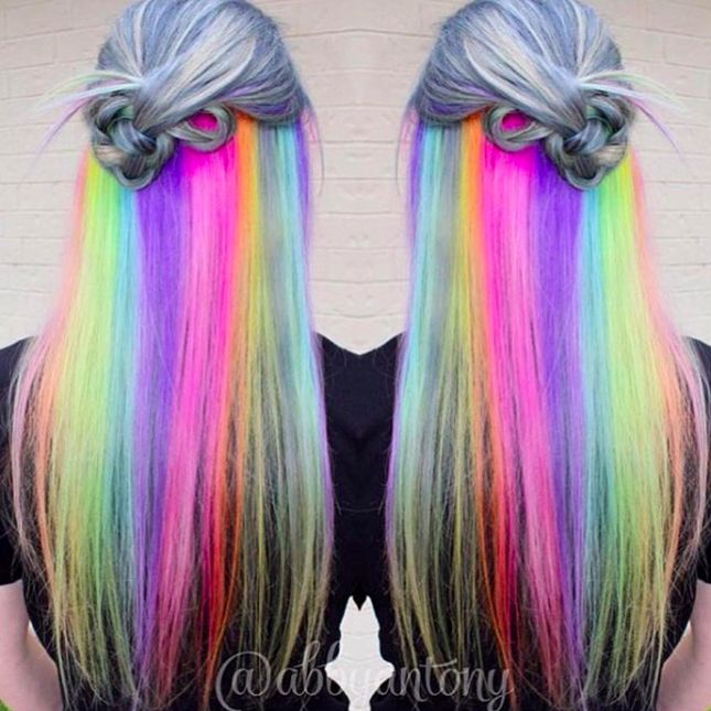 Underlights Are the New Secret Rainbow Hair Trend You Must Try via Brit + Co