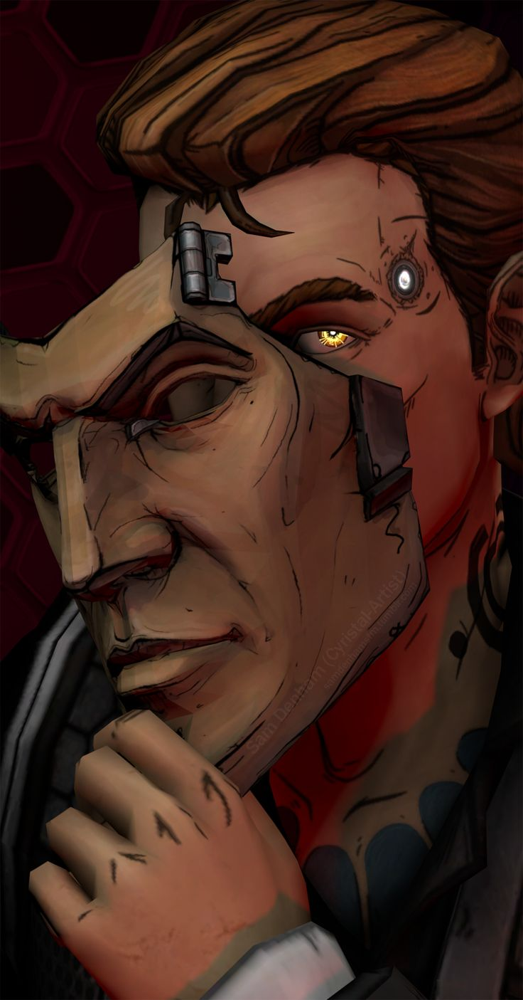 samdenhamsfm: Just Like Him [better full view] More borderlands stuff because it's taken over my life. Tried to imitate Telltale's style a bit with the lighting while also putting my own touch on it. Patreon | Commission info
