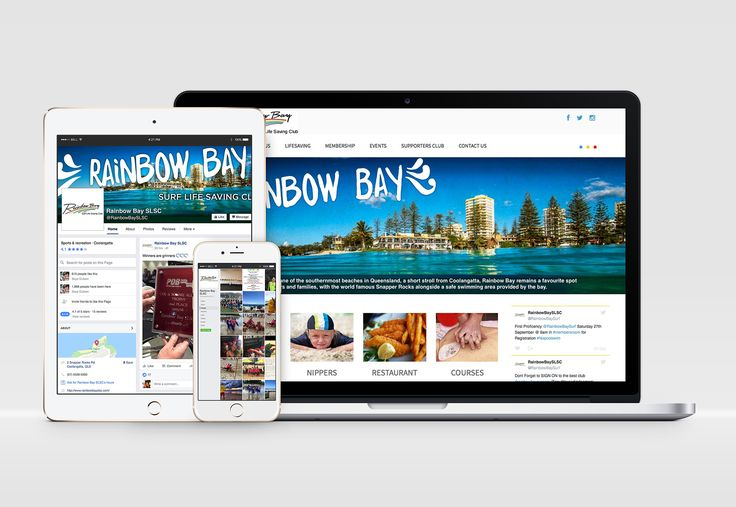 Digital branding project for Rainbow Bay Surf Life Saving Club - new website, website copy and social media strategy.