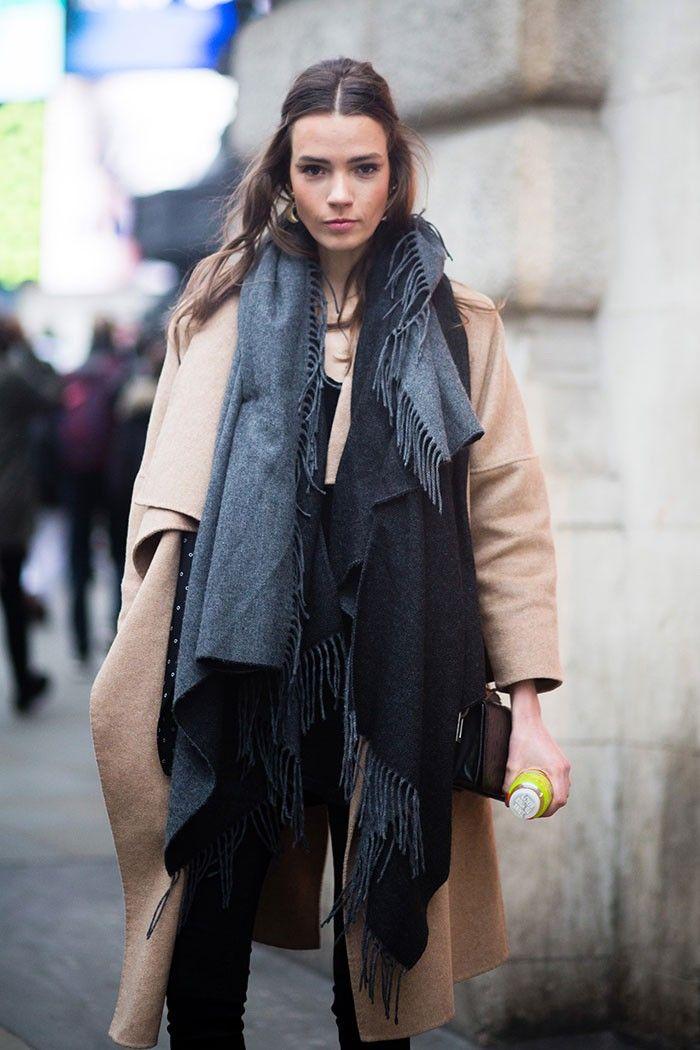 camel & grey. #TayaErmoshkina #offduty in London.: