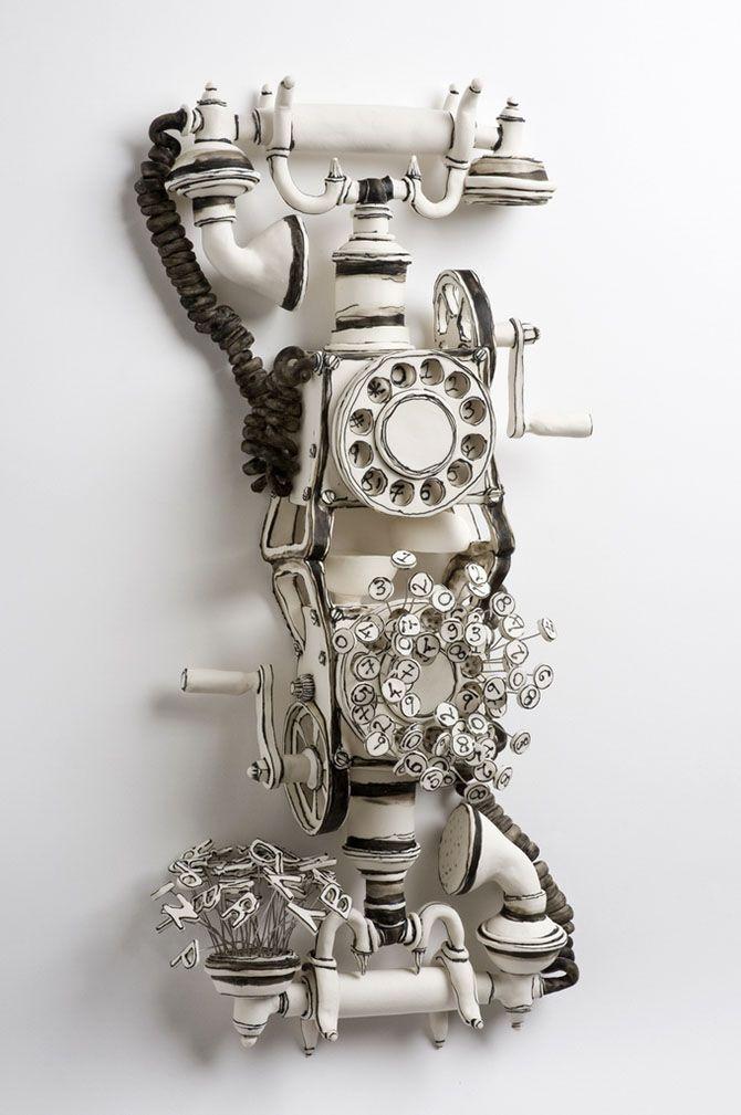 Керамические скульптуры Катарины Морлинг - телефон