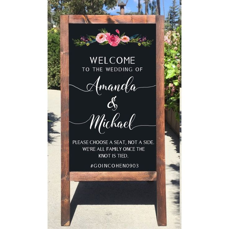 Welcome Wedding Sign - Rustic Wedding Chalkboard Sign Seating Easel Please Choose A Seat Not A Side We're All Family Once The Knot Is Tied